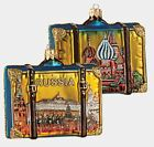 Moscow Russia Travel Suitcase Polish Glass Christmas Ornament ONE Decoration