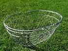 Vintage Primitive Farm House Chicken Wire Handled Egg Produce Deep Oval Basket