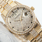 YVES CAMANI Tiberius Ladies Watch Stainless Steel Gold Plated Zirconia Crystals