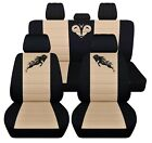 Fits 2009 To 2011 Dodge Ram Front And Rear Seat Covers 22 Two Tone Color Choices
