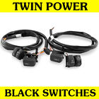 Black Hand Controls Switches Wiring Kit Harness for 1996 2006 Harley Models