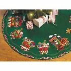 Bucilla Felt Applique Chtistmas Tree Skirt Kit, 43-Inch Round, 86158 Candy Expre