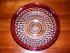 INDIANA DIAMOND POINT LG CONSOLE SALAD BOWL RUBY FLASH 13 1/4