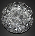 Antique Cut Glass Shallow Bowl  Marked Libbey