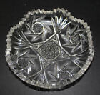 Antique Cut Glass Small Shallow Bowl
