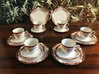 öslau - Noble 18 Pieces Coffee Service with Rose Decoration/