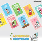 Pony Brown Accordion Cute Illustrated Postcard Greeting Card Gift Card 3 Packs
