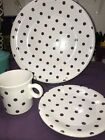 Fiesta 3 PIECE PLACE SETTING - HLCCA Exclusive- WHITE with MULBERRY DOTS