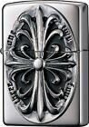 Zippo Lighter NO200 METAL Cross Silver 2SIM-CROZS  from Japan Best Buy Gift