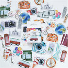 46 Pcs Box A Persons Travel Paper Stickers Diary Decoration DIY Scrapbooking