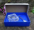 Westmorland Sterling Silver Spoon and Glass Open Salt Dip Cellar Dish in Box