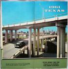 STATE OF TEXAS OFFICIAL HIGHWAY ROAD MAP 1961 VINTAGE AUTOMOBILE TRAVEL