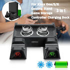 Multi functional Cooling Stand Fan Vertical Charging CD Storage for XBOX ONE