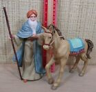 Thomas Kinkade Nativity Set 2 Figurines Silent Praise and Faithful Horse NEW