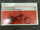 1986 Harley Davidson FXWG 1340cc Wide Glide Motorcycle Owner Manual User Guide