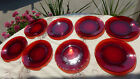 8 1940s ANCHOR HOCKING ANCHORGLASS Royal Ruby Red 7 3/4