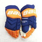 """Pro Stock Bauer Supeme TotalOne NXG PRO 14""""  Oilers Gloves NHL FREE SHIPPING"""
