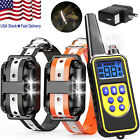 2600FT Dog Training Collar Rechargeable Remote Shock PET Waterproof For 2 Dogs