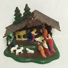 Miniature Plastic Nativity 422 Made in Hong Kong