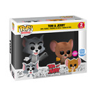 FUNKO POP ANIMATION TOM AND JERRY FLOCKED 2PACK FUNKO SHOP EXCLUSIVE SOLD OUT !!