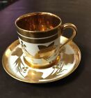 Collingwood English bone china Demitasse cup and saucer gold flowers