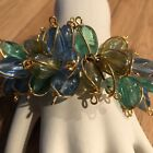 DAYNE DuVALL Official Page CC CLEARANCE 50 Blue Green Glass Bead Bracelet
