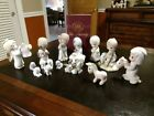 Precious Moments Lot of 16 Nativity Pieces Vintage Excelent Condition with Book