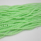 NEW 100pcs 4mm Ball Glass crystal Beads Green Fit Bracelets Necklaces TTC47