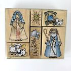 Hero Arts Rubber Stamps Nativity 6 Set Christmas Manger Rejoice Wood Mounted