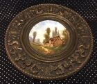 """"""" charger brass frame w/ French griffins"""