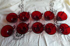 10 Vintage Anchor Hocking Royal RUBY RED Punch Tea Cups LOT Mint in condition