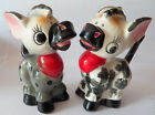 Vintage Artmark Donkey Salt  Pepper Shakers SP plaid polka dot