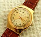 VINTAGE BAUME & MERCIER 2 TONED DIAL 33.8MM GOLD PLATED CASE AUTOMATIC