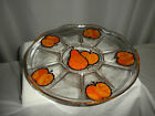 "¼"" Glass Pedestal CAKE/PLATE w/Orange Fruit"