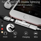Data Line Adapter Headphone Lightnig Audio Charger Adapter 2 In 1 For IPhon LA
