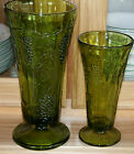 Set of 2 Indiana Glass Harvest Grapes Vases - EUC!!