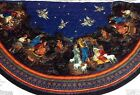 CRANSTON NATIVITY PRE QUILTED CHRISTMAS TREE SKIRT  STOCKING FABRIC PANEL