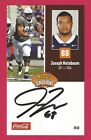 JOSEPH NOTEBOOM 2018 REESE'S SENIOR BOWL SIGNED TCU HORNED FROGS ROOKIE AUTO C