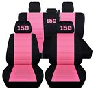 Truck Seat Covers 2015-2018 Ford F150 Custom Design Black With Color Choices Abf