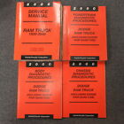 2000 Dodge Ram Truck 1500 2500 3500 Service Manual 4 Volume Set Quad Cab