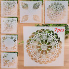 7PCS LOT Craft Embossing Template Wall Painting Layering Stencils Scrapbooking