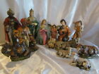 Vintage Nativity Set Large Some 10 To 12 Tall 13 Pieces Vibrant Colors Japan
