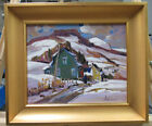 Louise Lecor Kirouac Rural Quebec Mountains & Snow Listed Quebec Canadian Artist