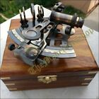 Brass Collectible Nautical Antique Style German Marine Sextant w/ Wooden Box New