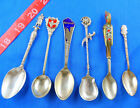 VINTAGE MISC SOUVENIR SPOON LOT OF 6, SOME SILVER, NON-US -FREE US SHIPPING -OLD