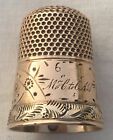 10k Gold Sewing THIMBLE Victorian Era Antique Vintage 3.2g Size 6