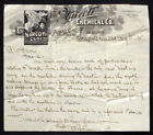 1895 Rare NARCOTI CURE Advertising Letter Tobacco Smoking Nicotine WILL BRADLEY