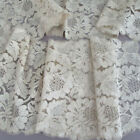Antique Blonde French SILK Chantilly LACE Lappet Shawl Runner 60