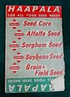 Old 1966 LEVI HAAPALA Dassel MN Vintage Farm Seed Advertising Booklet FREE S/H