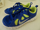 NIKE GIRLS SIZE 1 M SNEAKERS ATHLETIC SHOES BLUE YELLOW LIGHT WEIGHT CLEAN
